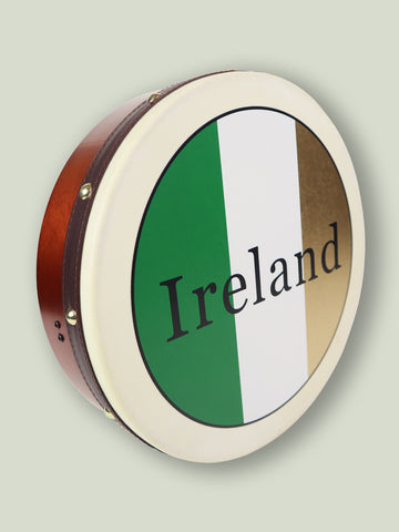 Celtic Bodhrán With Tricolour Design