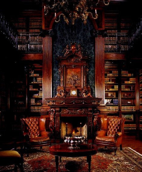 Mahogany Home Library Office: I Have Many Leather Bound Books...and My Apartment Smells