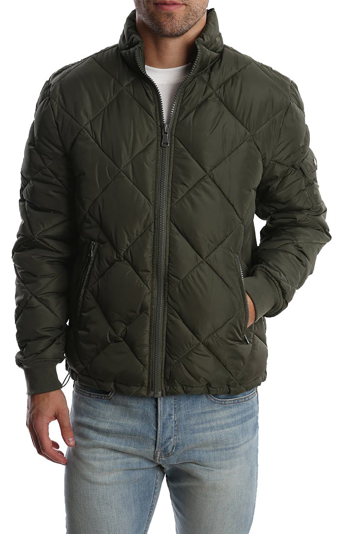 Green Quilted Puffer Jacket - JACHS NY