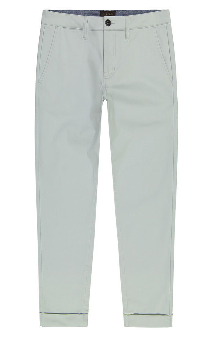Light Blue Cropped Fit Stretch Bowie Chino - jachs