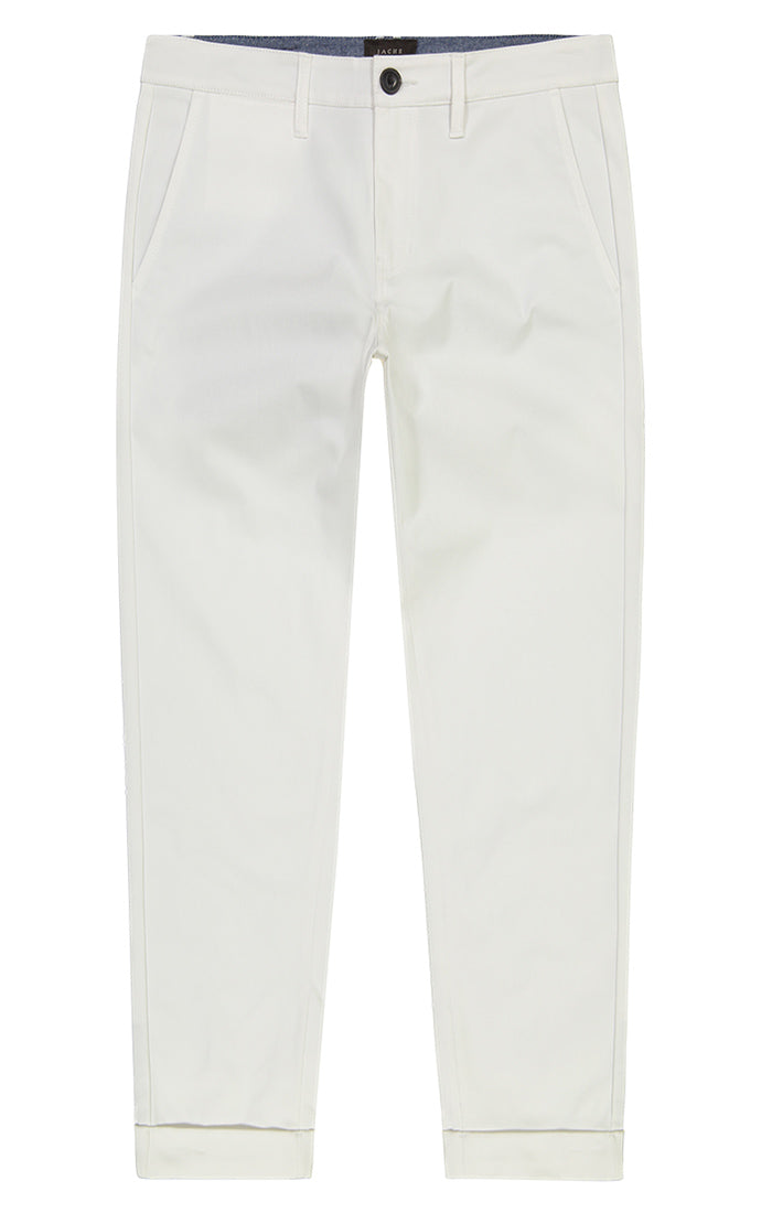 White Bowie Stretch Cropped Chino Pant - jachs