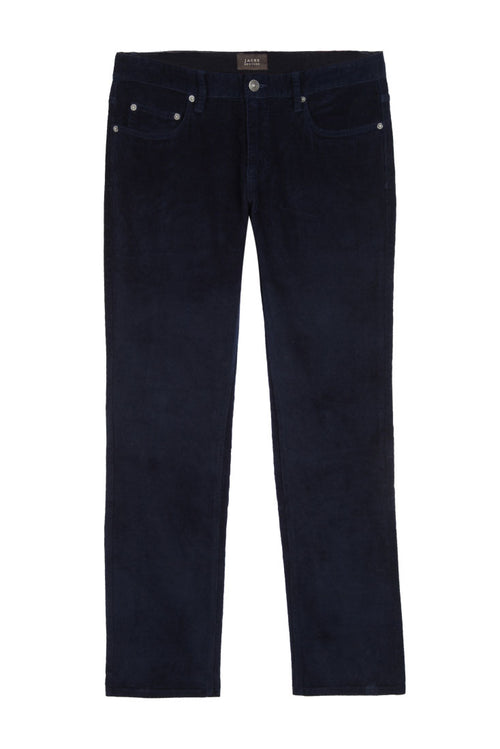 Navy Stretch Corduroy Pant - jachs