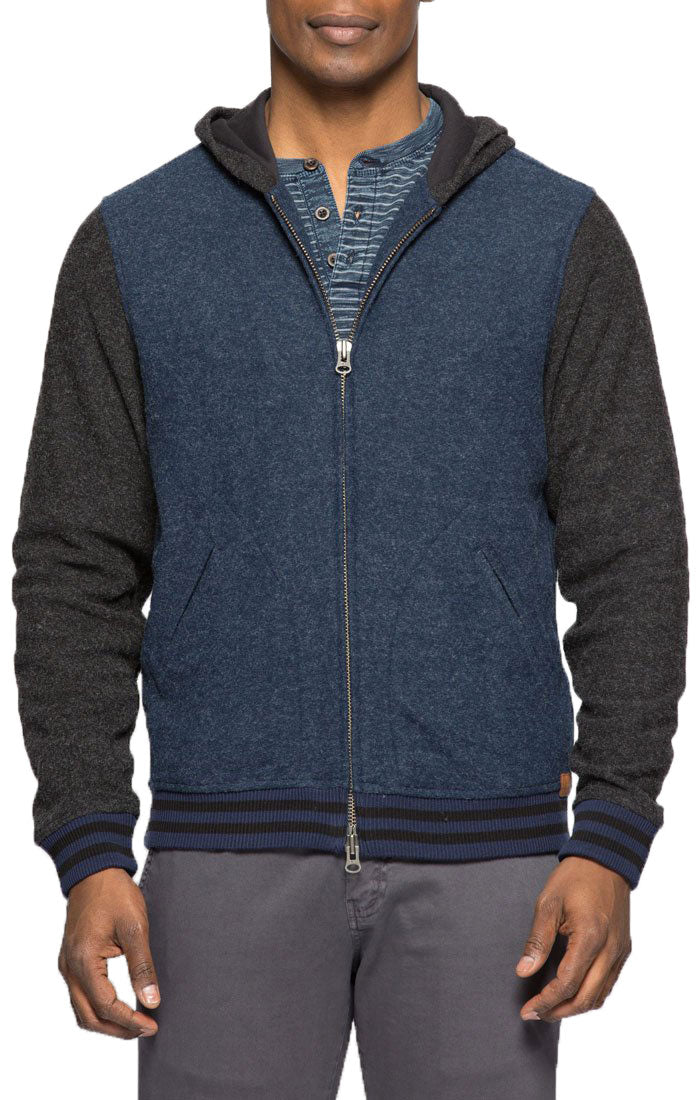 Heathered Fleece Varsity Hoodie - jachs