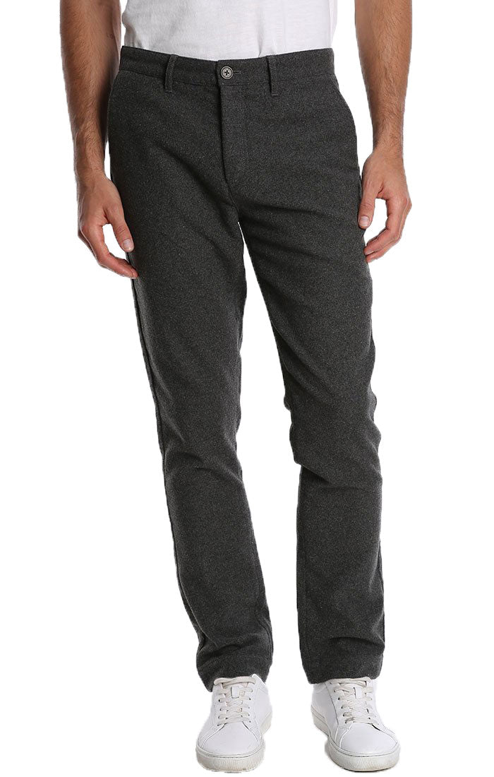 Charcoal Wool Blend Flannel Pant - jachs
