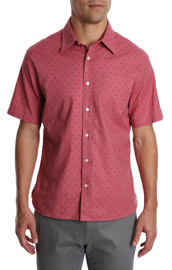 Pink Floral Short Sleeve Shirt