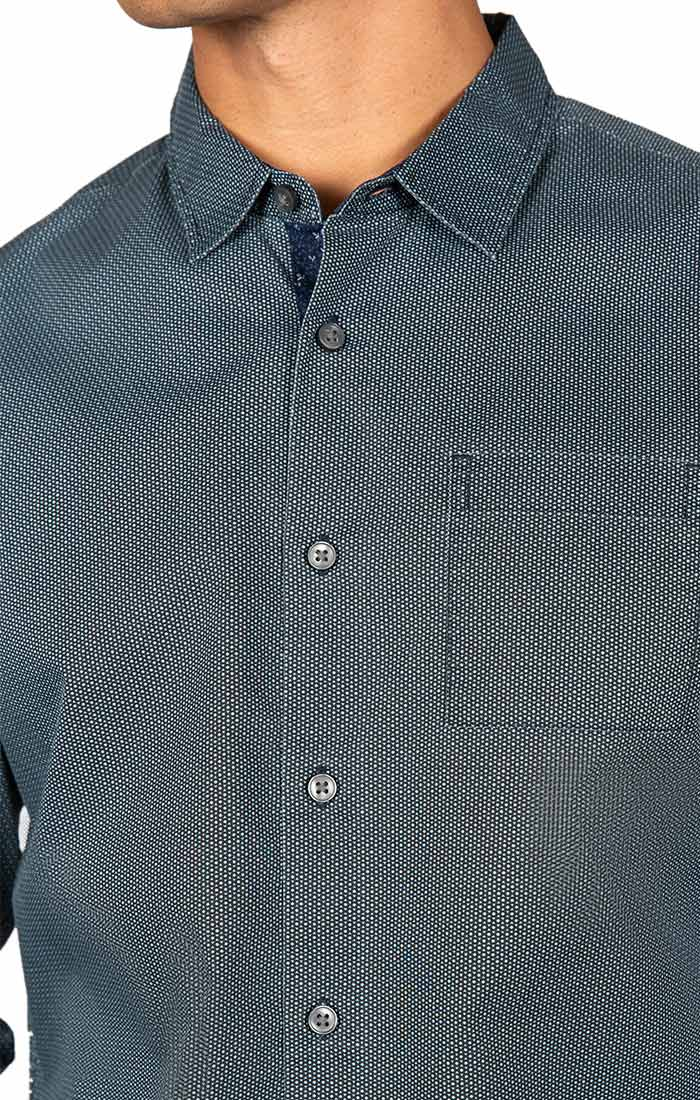 Black Micro Dot Long Sleeve Tech Shirt