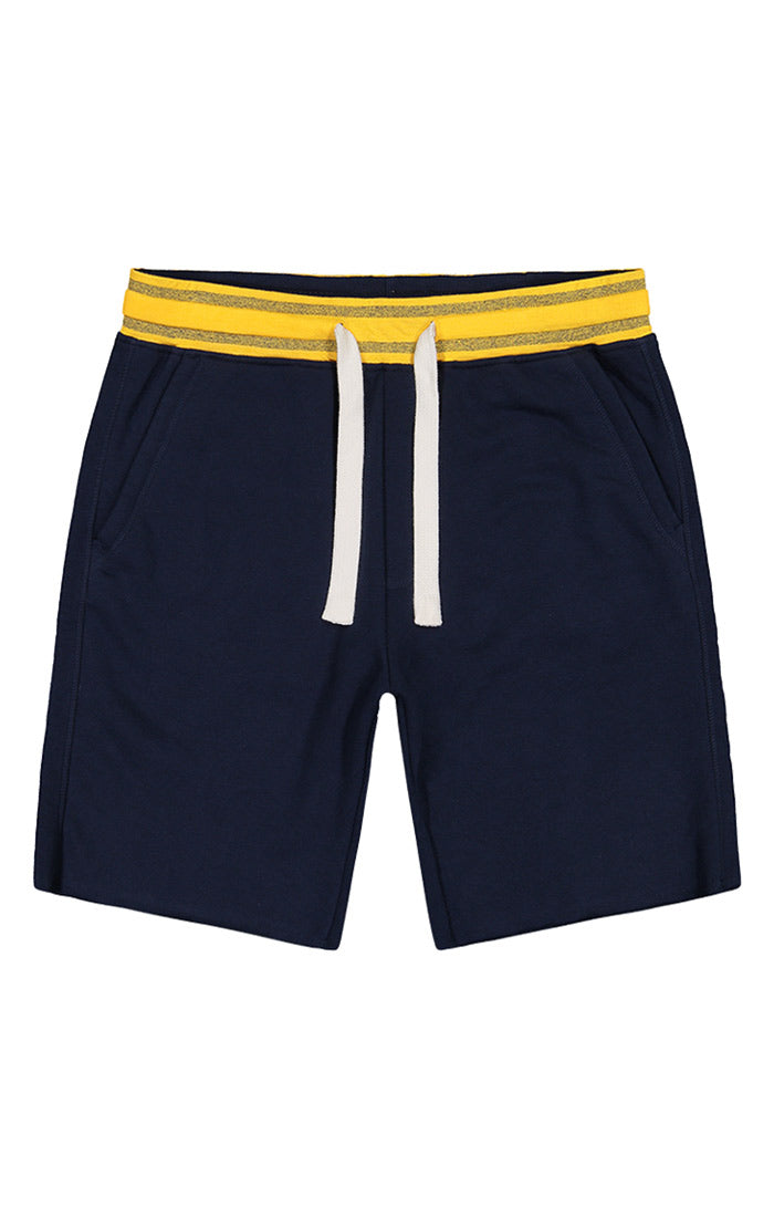 Navy French Terry Pull On Short - jachs