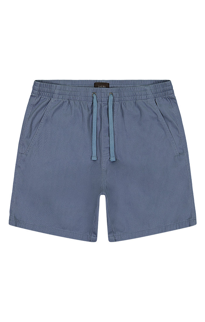 Blue Stretch Twill Pull On Dock Short