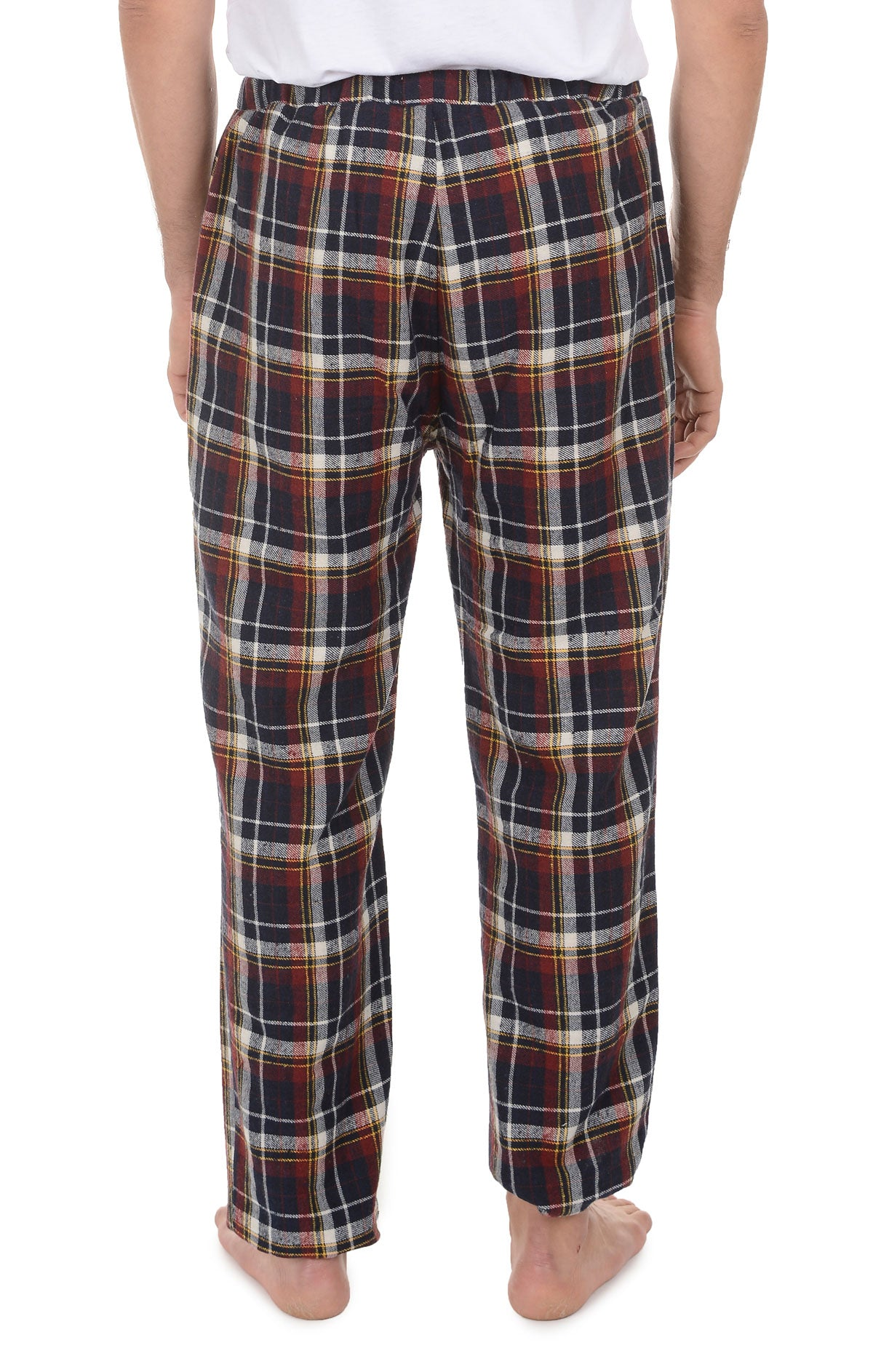 Navy and Brown Plaid Flannel Pajama Pant - jachs