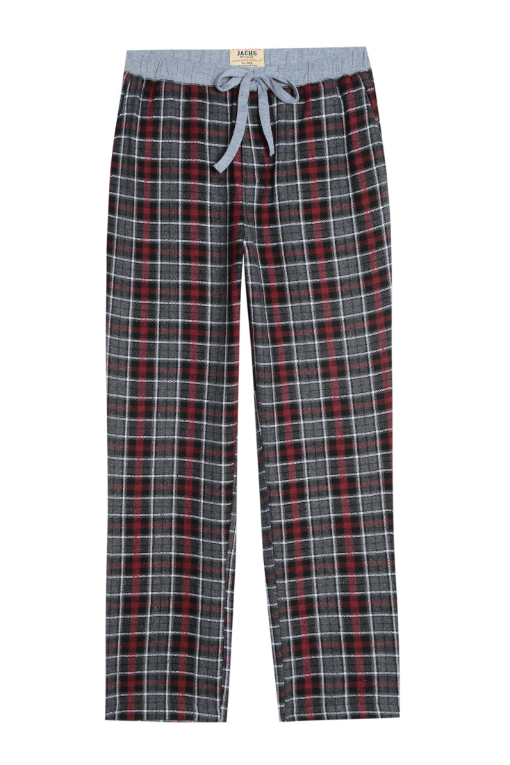 Grey Plaid Flannel Lounge Pant