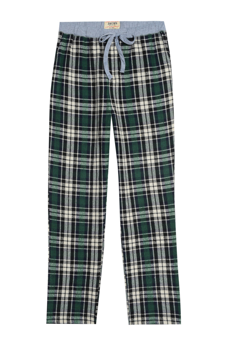 Green Plaid Flannel Lounge Pant - jachs