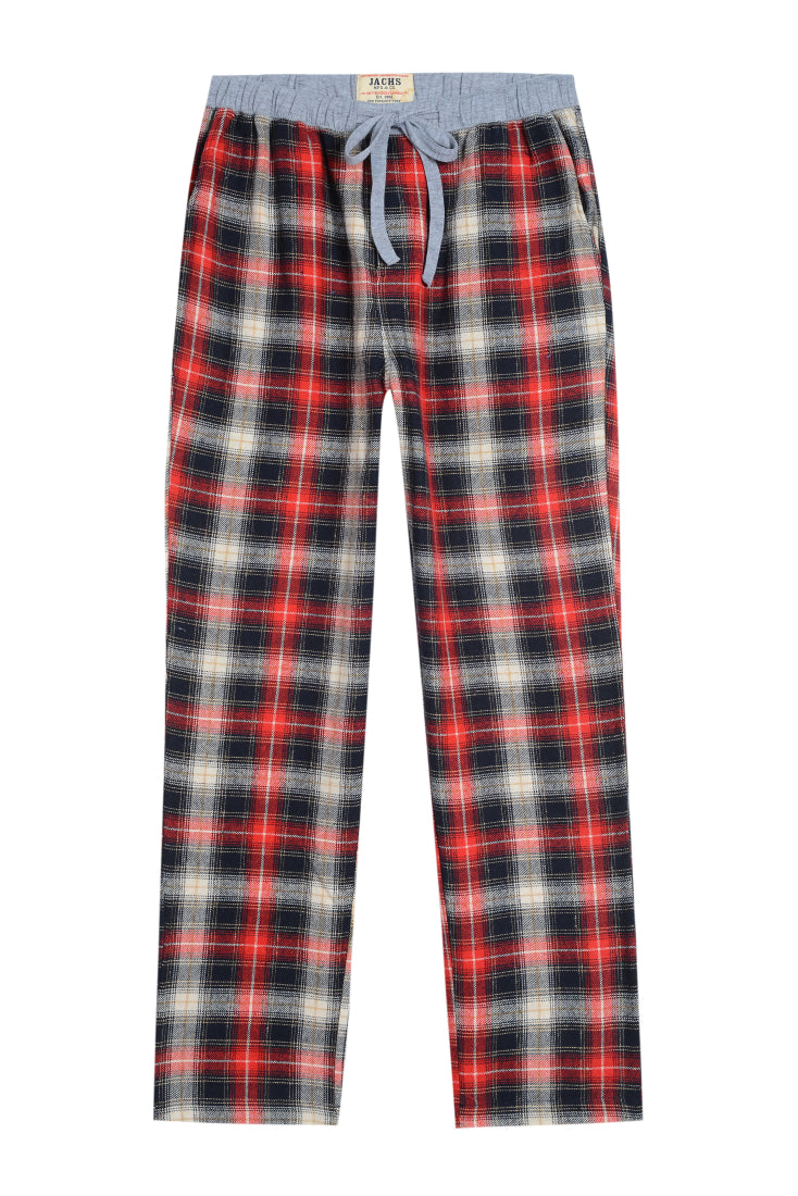 Red Plaid Flannel Lounge Pant - jachs