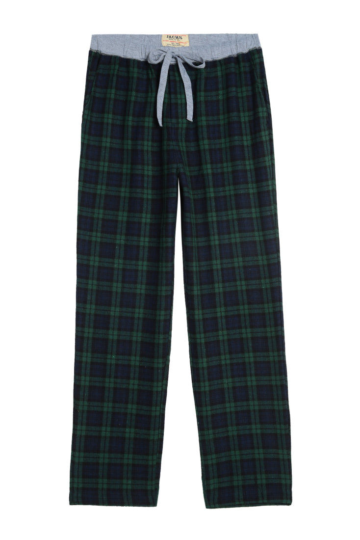 Navy Plaid Flannel Lounge Pant