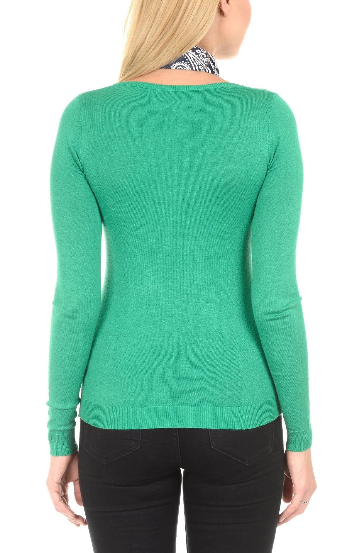 Soft V-Neck Sweater - Mint - JACHS NY