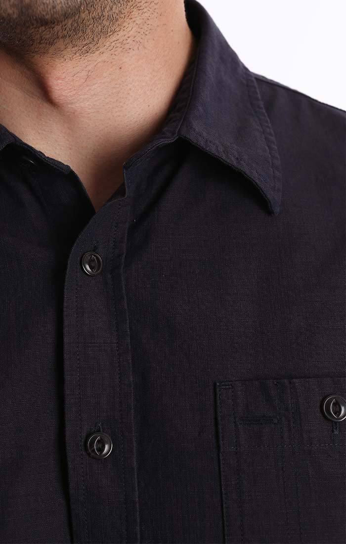Dark Indigo Slub Chambray Shirt - jachs