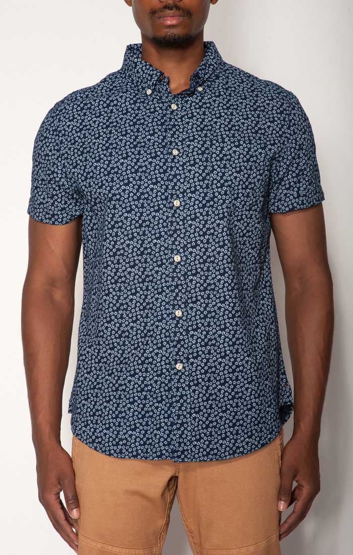 41c7609943 Indigo Printed Short Sleeve Shirt