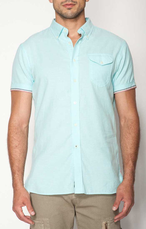 Teal Short Sleeve Oxford Shirt - jachs