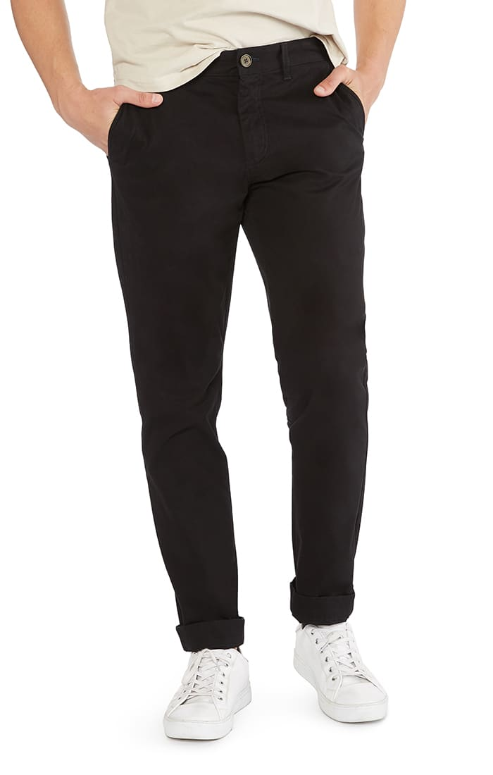 Black Bowie Stretch Straight Chino Pant - jachs