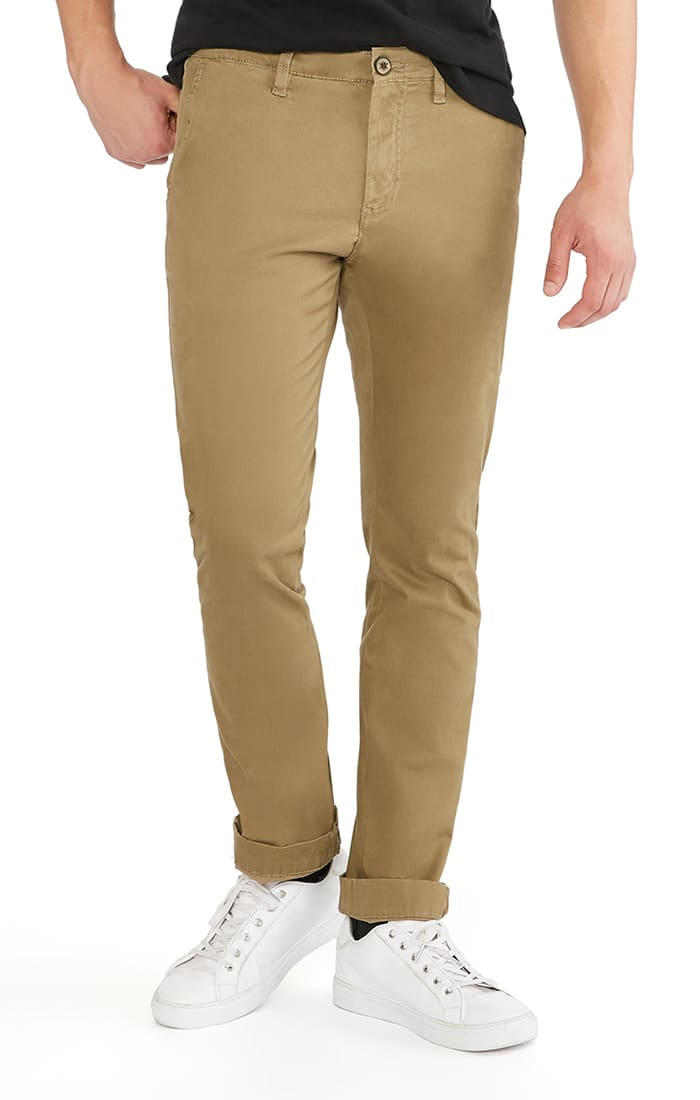 Khaki Straight Fit Stretch Bowie Chino - jachs