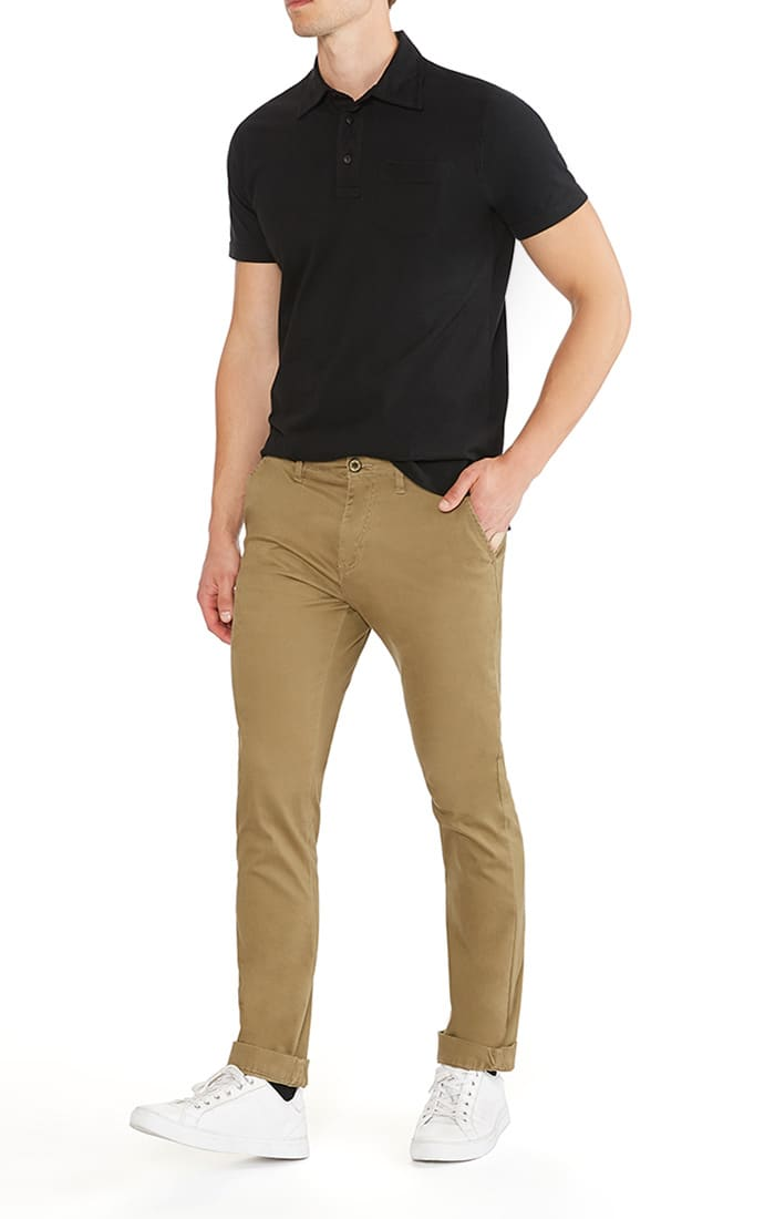 Khaki Bowie Stretch Cotton Chino