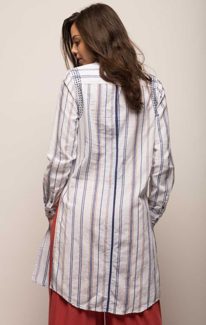 Extended Striped Baja Tunic - jachs