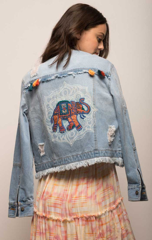 Embellished Denim Jacket - jachs