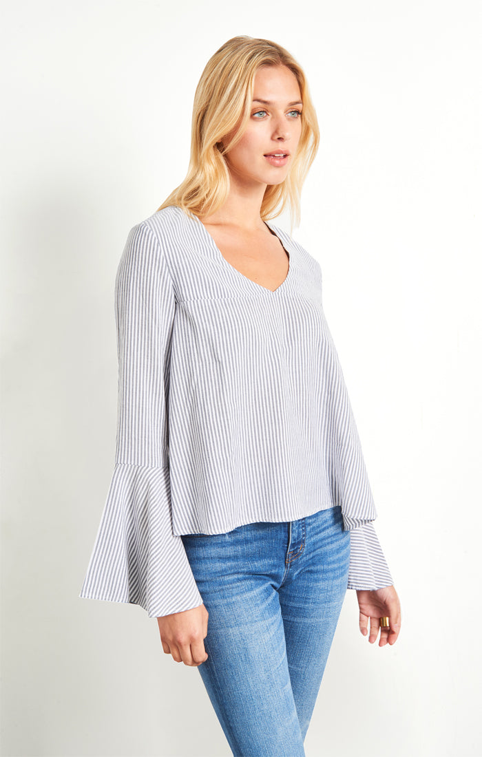 Babydoll Pullover with Bell Sleeves