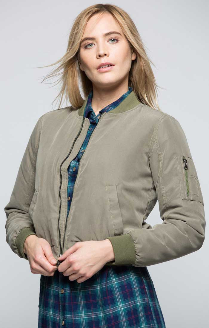 Cropped Bomber Jacket - jachs