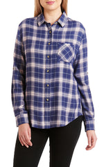 JACHS GF Blue Rayon Blend Flannel Shirt