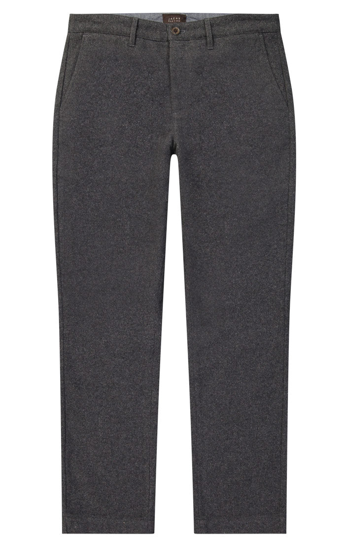 Charcoal Wool Blend Flannel Pant