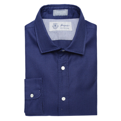 Canclini Luxe Sport Shirt in Blue - jachs