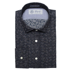 Albini Luxe Printed Sport Shirt in Black