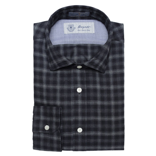 Albini Luxe Flannel Shirt in Grey - jachs
