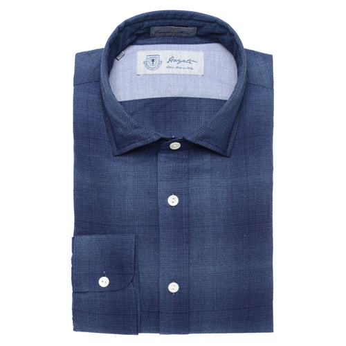 Albini Luxe Flannel Shirt in Blue - jachs