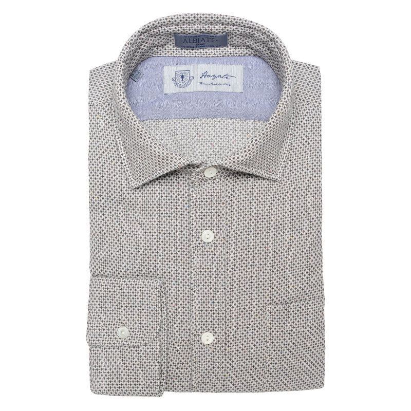 Albiate Luxe Textured Sport Shirt in Grey
