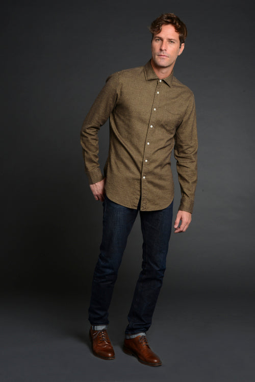 Canclini Luxe Flannel in Olive - jachs