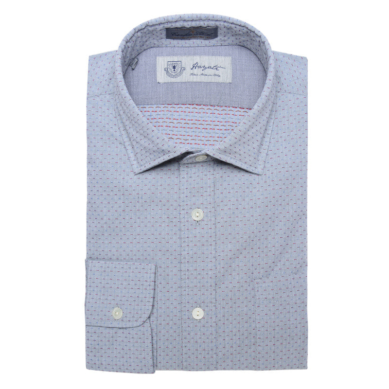 Albini Luxe Dobby Dress Shirt in Grey