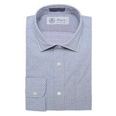 Albini Luxe Dobby Dress Shirt in Grey - jachs