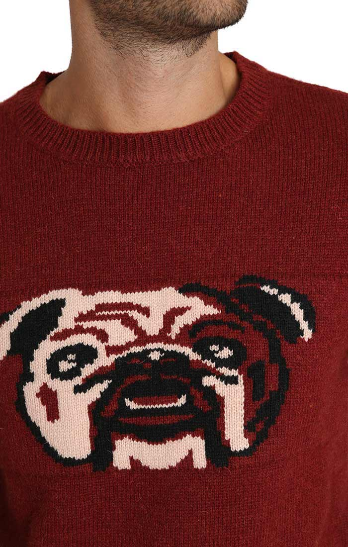 Bulldog Merino Wool Crewneck Sweater