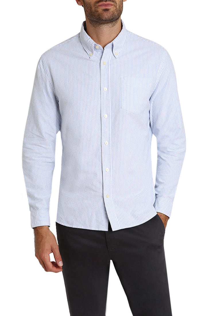 Striped Brushed Oxford Shirt - jachs