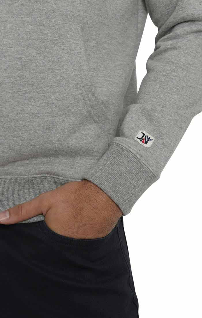 Grey Varsity French Terry Pullover Hoodie
