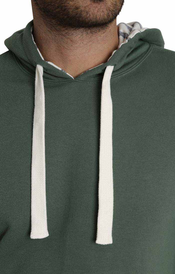 Green Varsity French Terry Pullover Hoodie