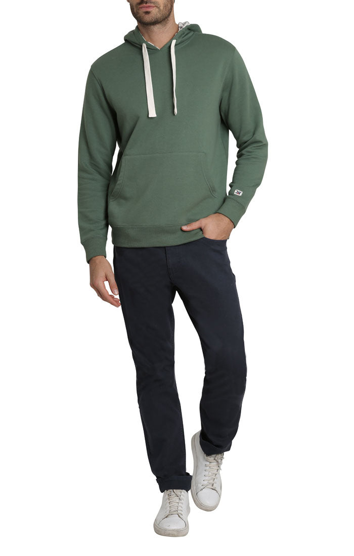 Green Varsity French Terry Pullover Hoodie - jachs
