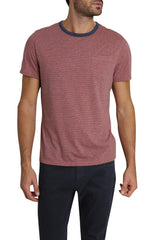 Red Striped Linen TriBlend Tee - jachs