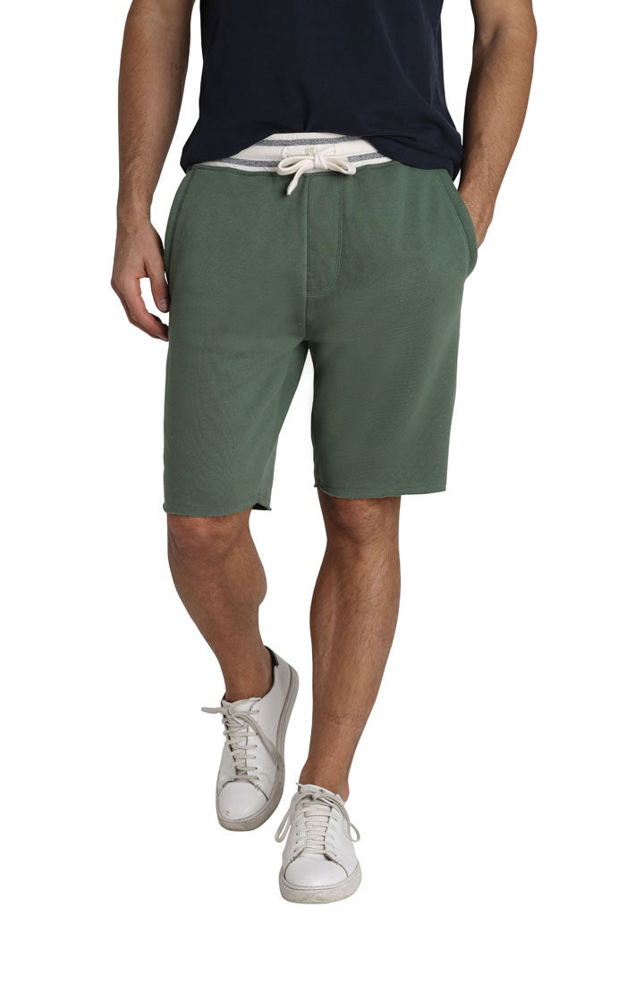 Green French Terry Pull On Short - jachs