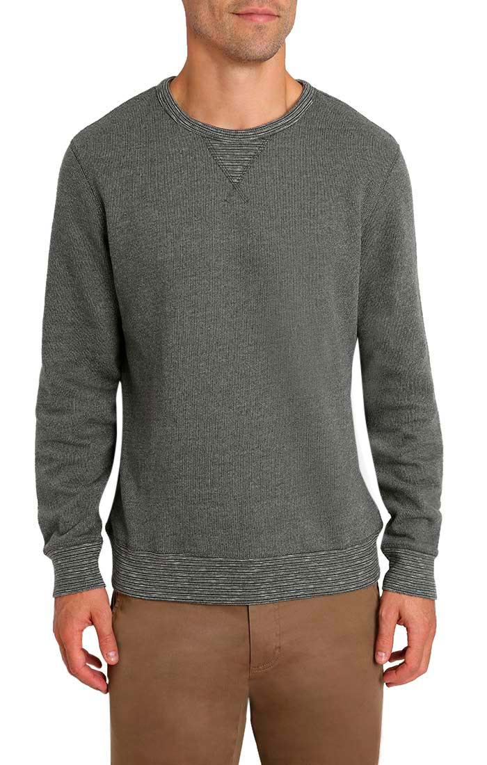 Charcoal Marled Fleece Crewneck Sweatshirt - jachs