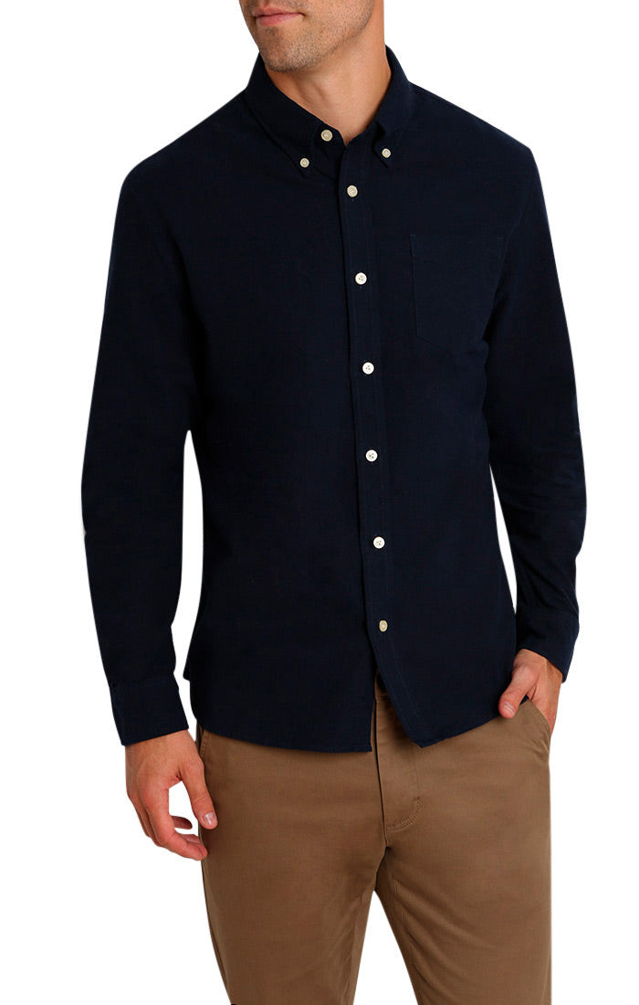 Indigo Brushed Oxford Shirt