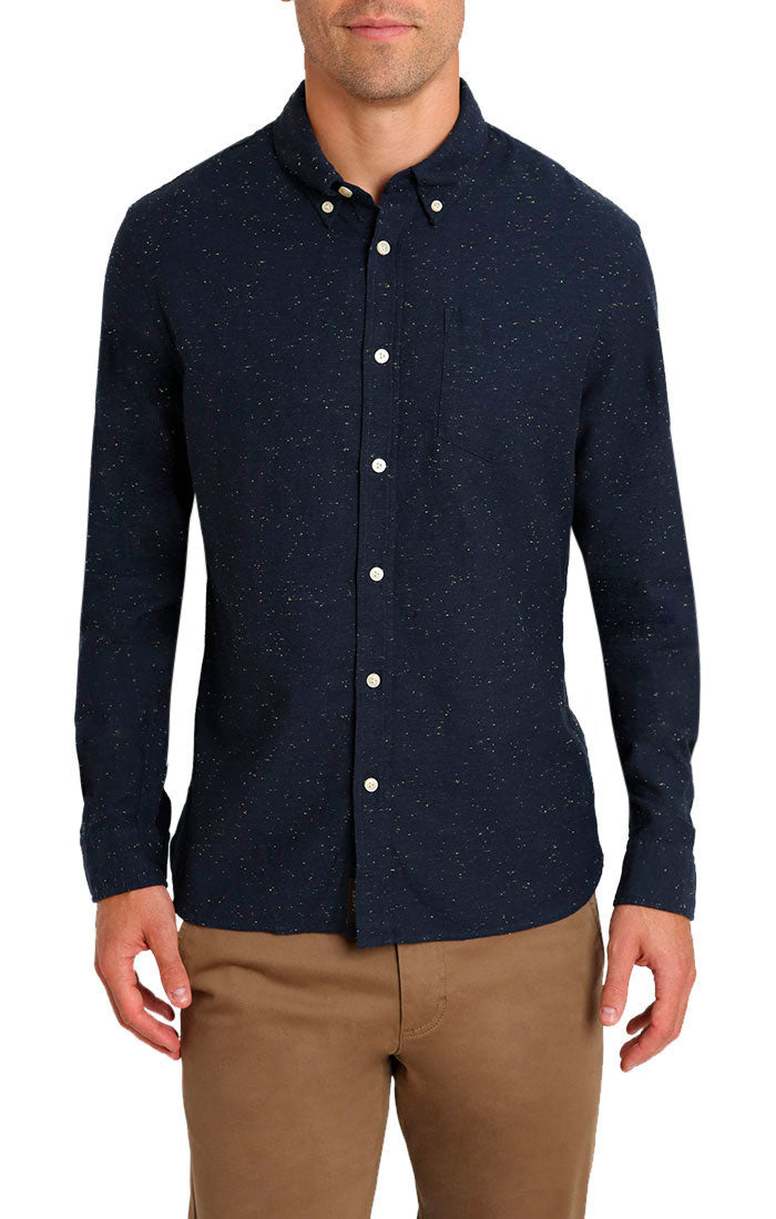 Indigo Donegal Oxford Shirt