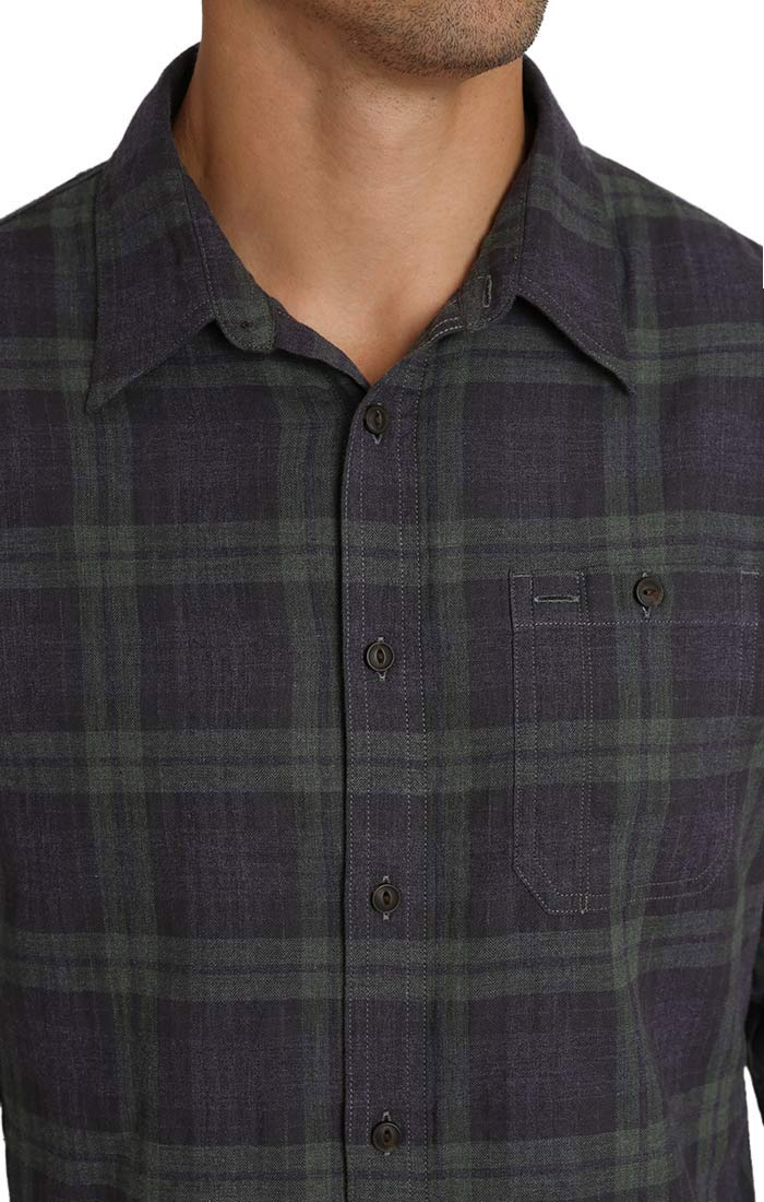 Indigo Plaid Workshirt - jachs