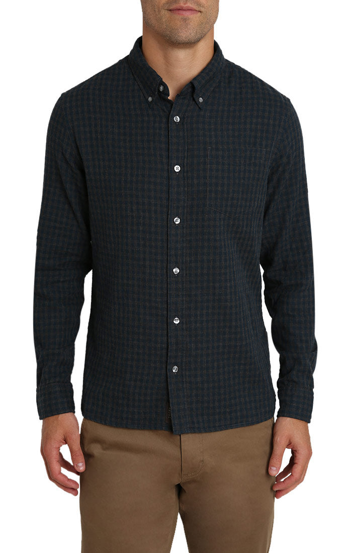 Micro Plaid Stretch Double Face Shirt - jachs